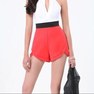 Bebe Katrina Tulip Shorts in Coral 🌸